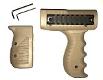 UZI VERTICAL TAN HANDGUARD SET WITH RAILS MOUNT - TACTICAL FOREGRIP